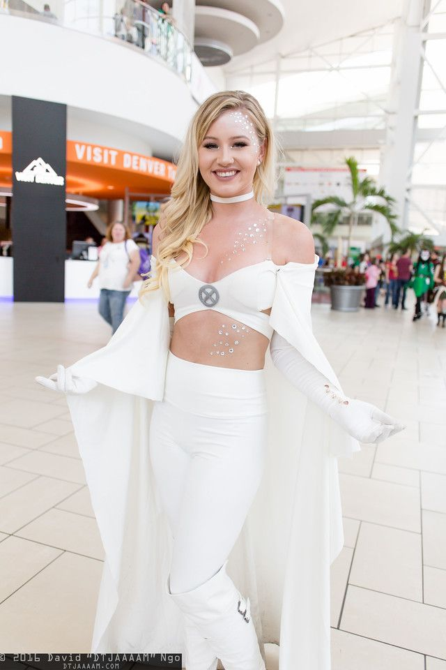 Emma Frost from X-men #cosplay at Denver Comic Con 2016