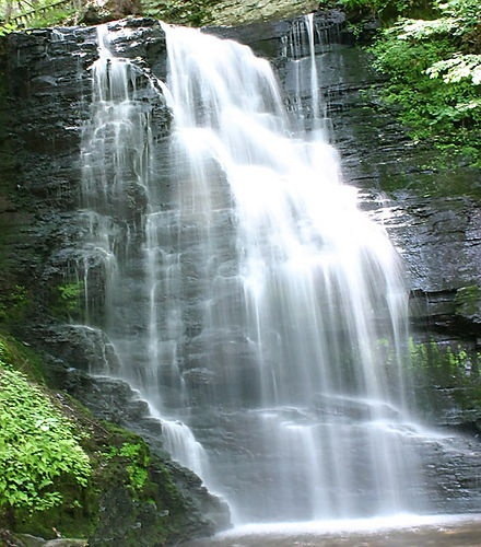 Bushkill Falls, PA. Chris and I stumbled upon it on our honeymoon! Beautiful!