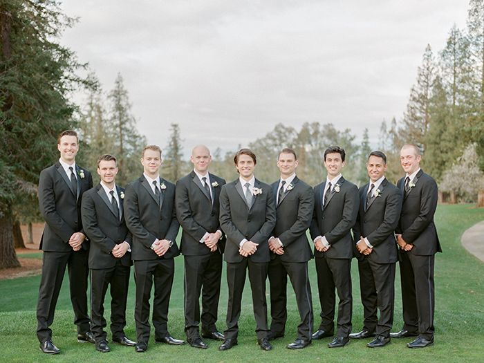 Classic Black Tie Groom and Groomsmen