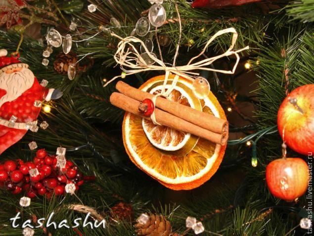 МК Апельсиновый декор для елки.. Обсуждение на LiveInternet - Российский Сервис Онлайн-Дневников