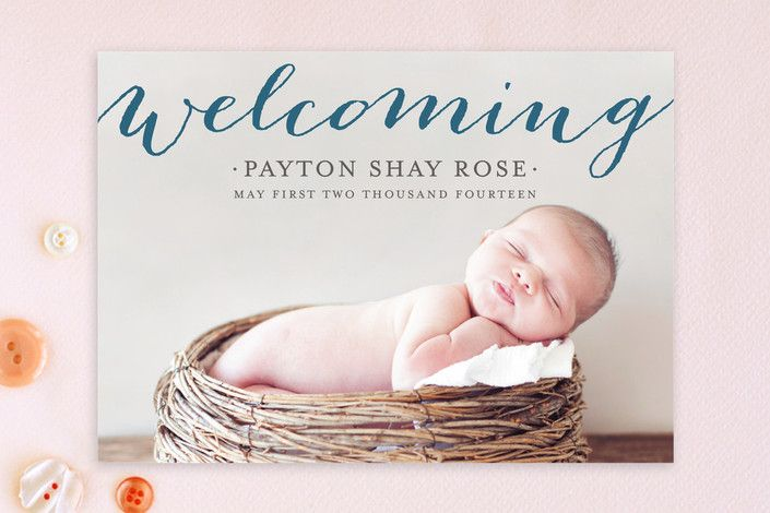 Welcoming Birth Announcements by michelle hatsushi at minted.com