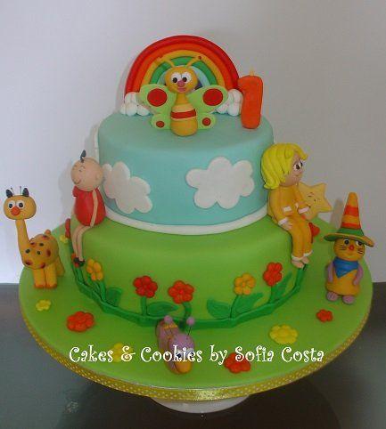 Baby TV Cake - by Sofia Costa (Cakes & Cookies by Sofia Costa) @ CakesDecor.com - cake decorating website
