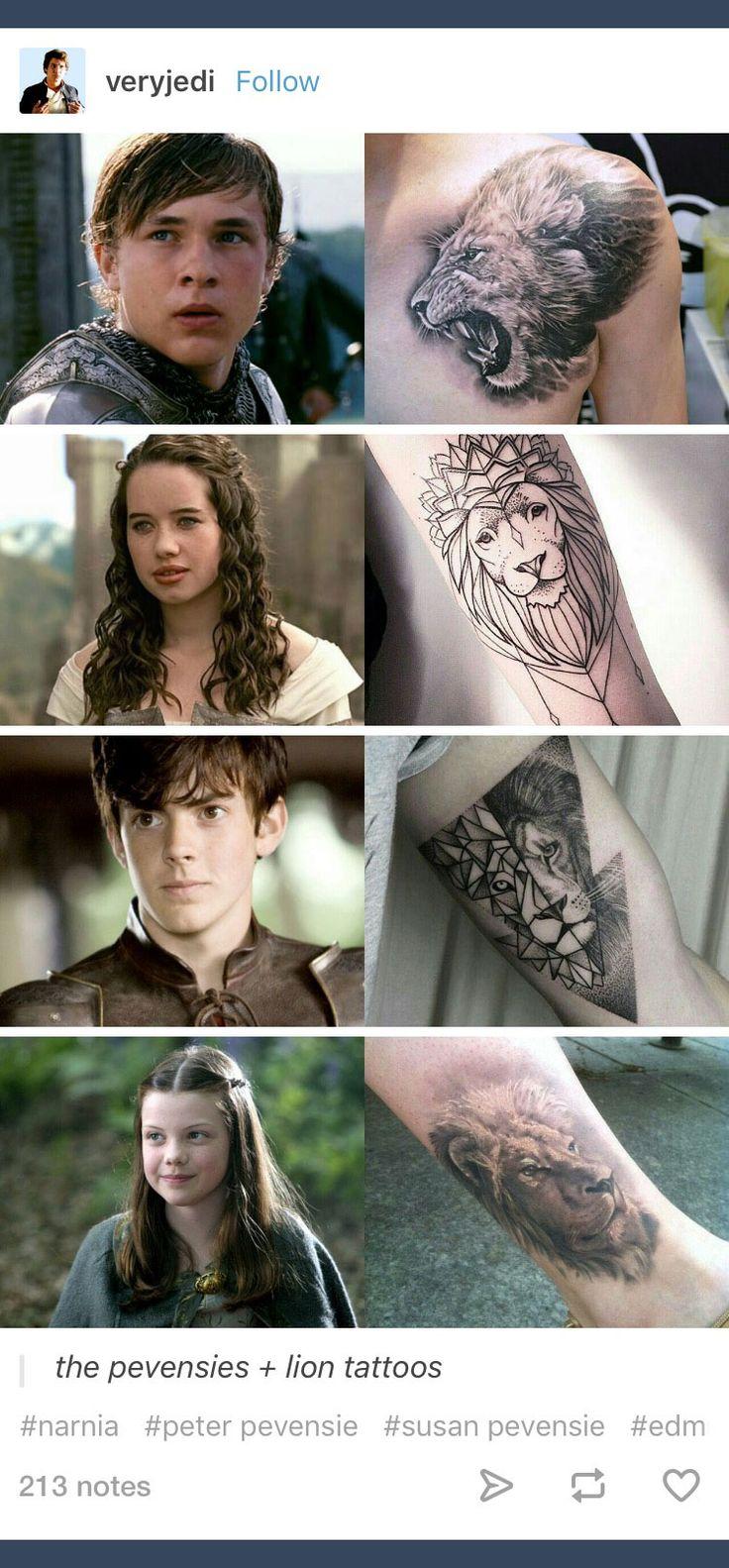 Eine Vielzahl von Aslan-Tattoos, inspiriert von The Chronicles of Narnia, geschrieben von C. … – Die Chroniken von Narnia