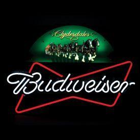 Large Budweiser Mirror Budweiser 174 Ab 55400 Clydesdale