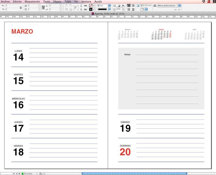 agenda 2016 para imprimir gratis plantilla agenda 2016 para imprimir ...