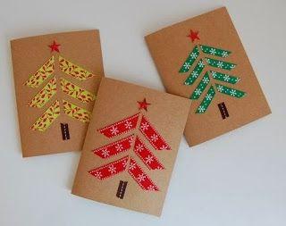 Ideas de tarjetas navideñas caseras.