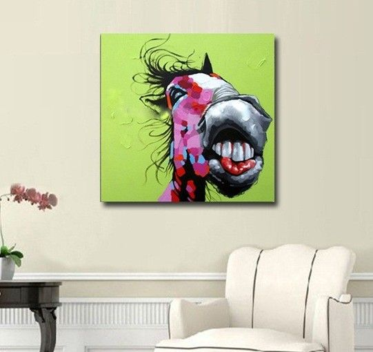 "Canvas Art ""Smiling Horse"""