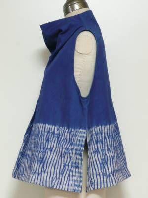 'Tunic iris heather eyes,' handmade tunic by Japanese designer Isshin-do. via Japanese site buynavi