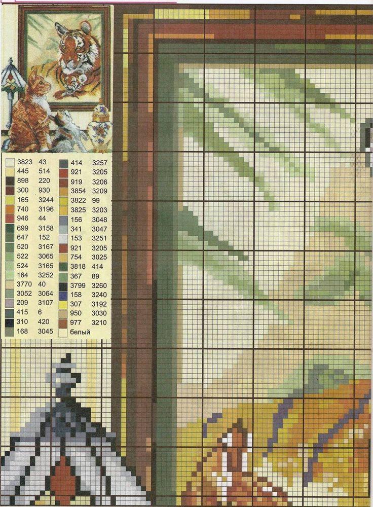 GRAFICOS PUNTO DE CRUZ GRATIS : TIGRES(31)