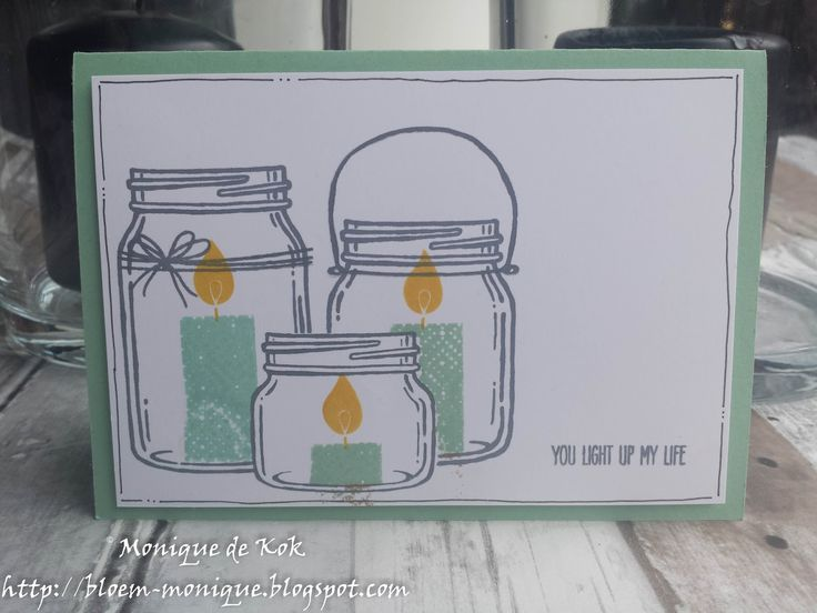 Bloem's blog: Vakantie! - Creatieve Harten Bloghop #stampinup #stampinupmetmonique, Jar of Love, Build a Birthday, kaarten, stempelen, gifts, handmade.