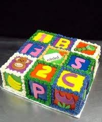 abc alphabet block cake - Abc Cake Decorating