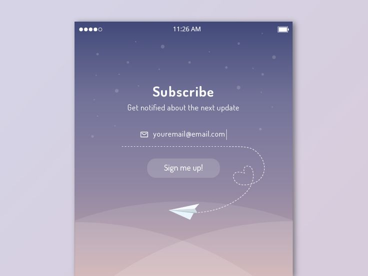 Subscribe UI Inspiration — Muzli -Design Inspiration — Medium