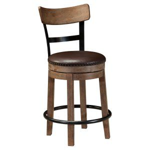 Signature Design by Ashley Pinnadel Wood Counter Height Stools - Dining Chairs at Hayneedle