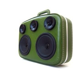 boomcase - speaker system made out of vintage luggage