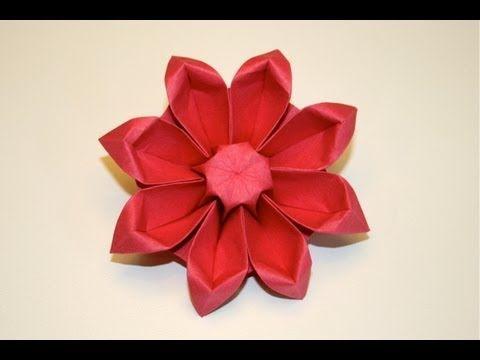Origami gerbera youtube origami flowers pinterest origami flowers - Youtube origami fleur ...