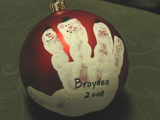 Boules de Noël - Main d'enfant
