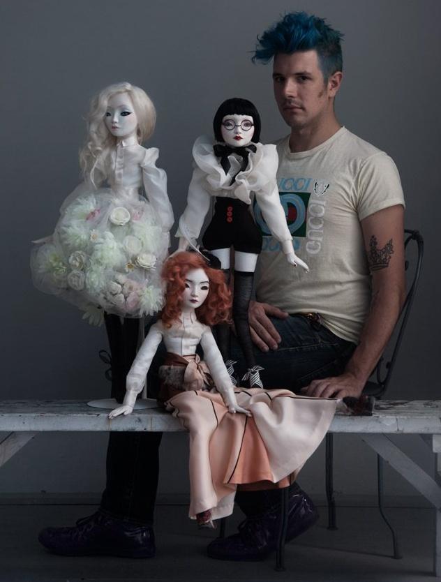 JDavidMcKenney and his three Maquette/Prototype dolls