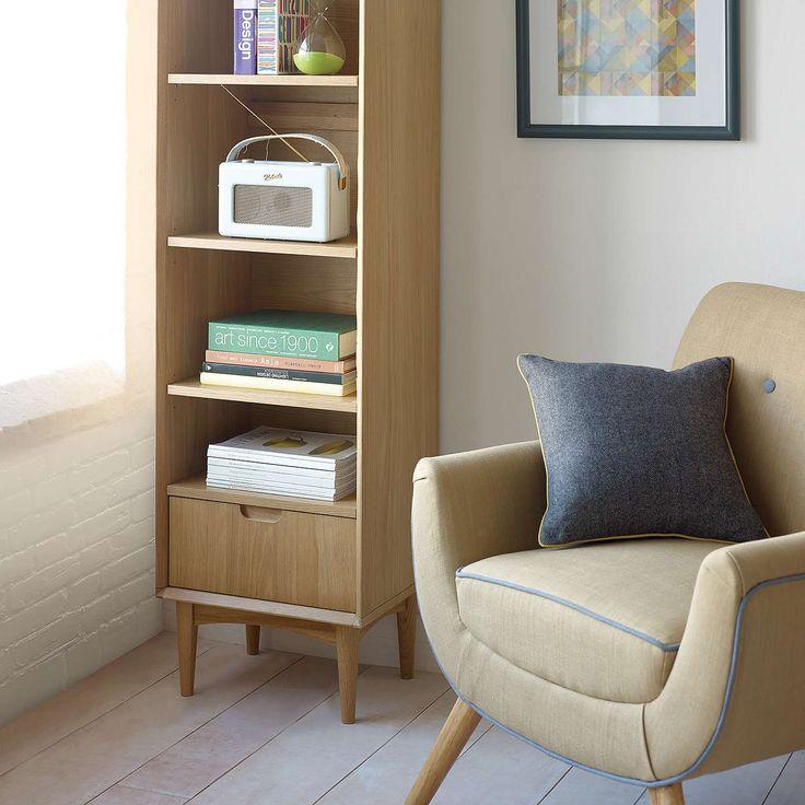 17 best ideas about narrow bookshelf on pinterest behind for Space fabric dunelm