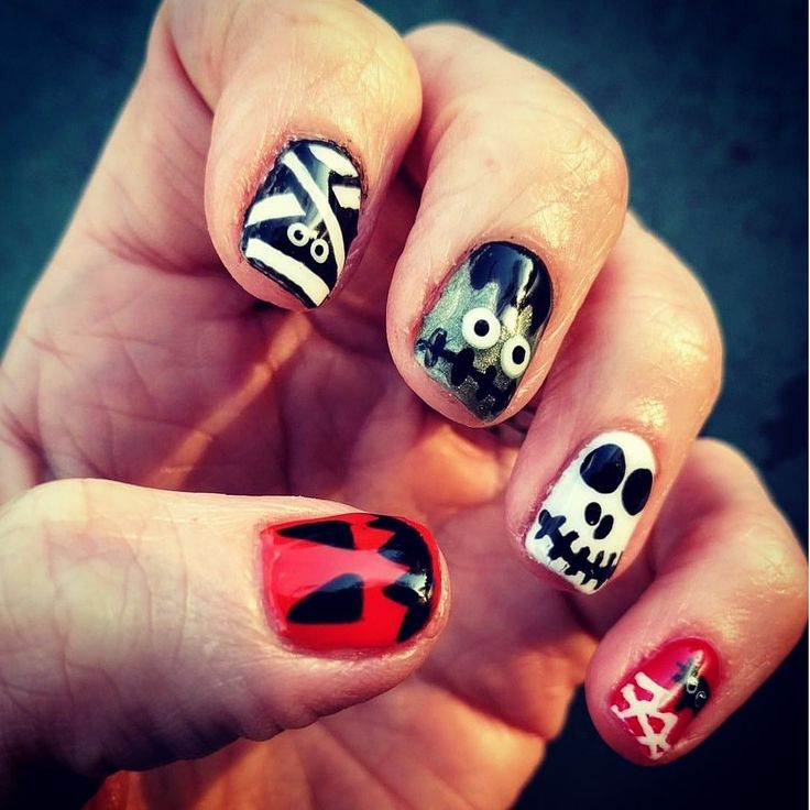Nails by me at AMAI Salon - Sutton #Halloween # ...