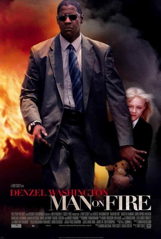 Man On Fire Movie Poster 27 X 40 Denzel Washington Dakota