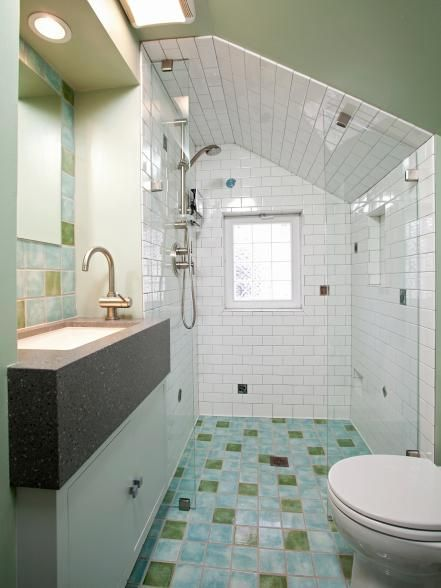 No-threshold showers along with comfort-height toilets, vanities and side-mount faucets are gaining in popularity for very practical reasons. Curbless showers are easier to clean, they make your bathroom look bigger, and they help homeowners to age in place.