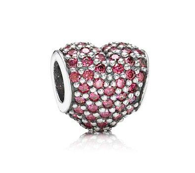 Pandora Red Pavé Heart Charm 791052CZR £55.00