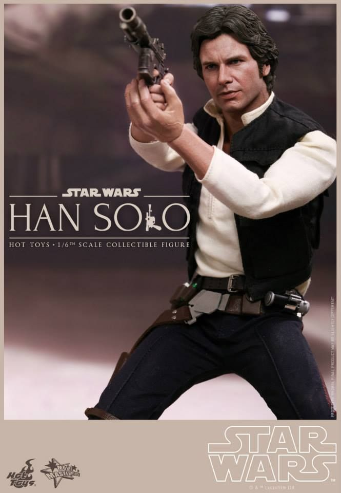 Hot Toys Han Solo and Chewbacca STAR WARS 1/6 Scale Figures