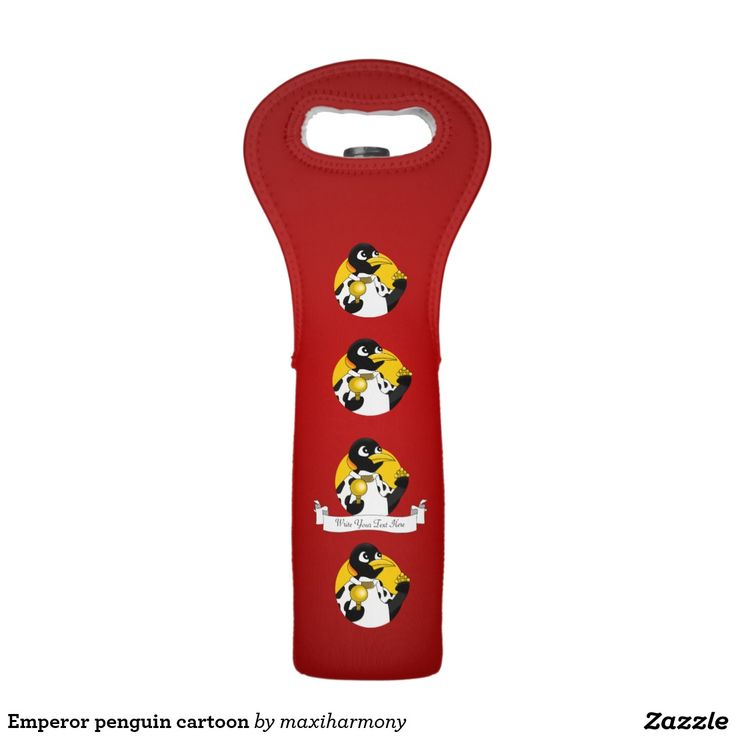 Emperor penguin cartoon wine bags
