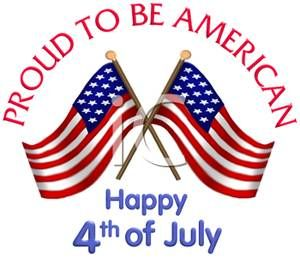 july 4th images free | Two Flags Crossed For 4th of July - Royalty Free Clipart Picture