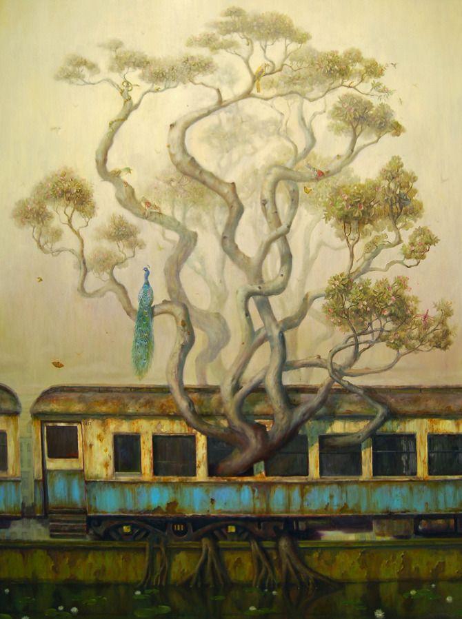 Sanctuary - Martin Wittfooth..designer of silverstein album art