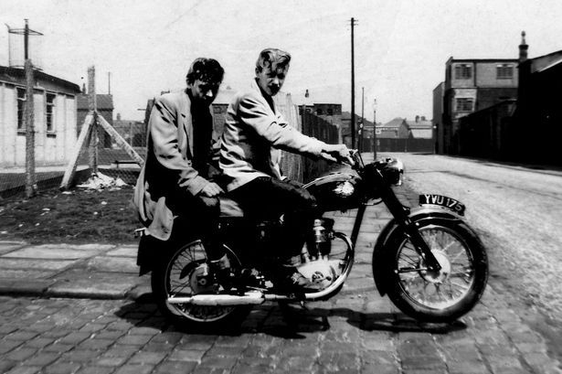 The Salford Bop Cats. Teddy Boys on a BSA Starfire