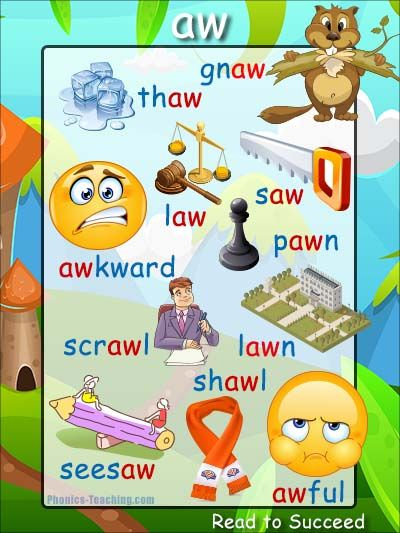 5 letter words ending in aw 400 best phonics posters phonics amp phonics 16326