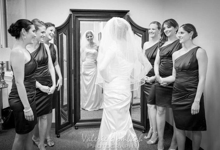 Such a fun getting ready wedding photo.