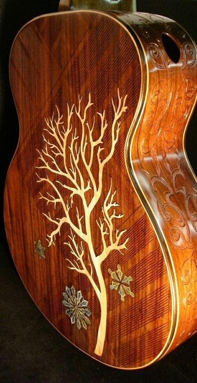 "Handmade Blueberry ""Winter"" Acoustic Guitar"