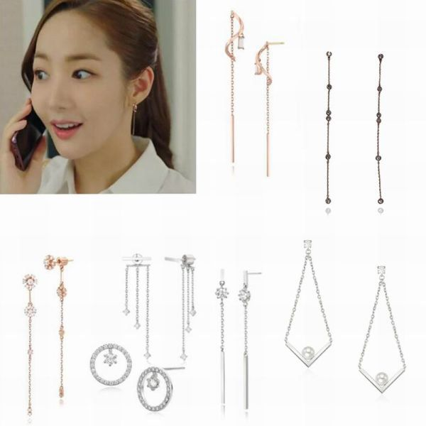 Us 1 47 26 Off Mengjiqiao 2018 Korean Star Trendy Shiny Zircon Drop Earrings For Women Delicate Micro Pave Boucle D Oreille Women S Earrings Drop Earrings