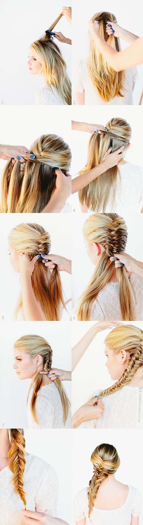 Wondrous 1000 Ideas About Fishtail Braid Hairstyles On Pinterest Hairstyle Inspiration Daily Dogsangcom
