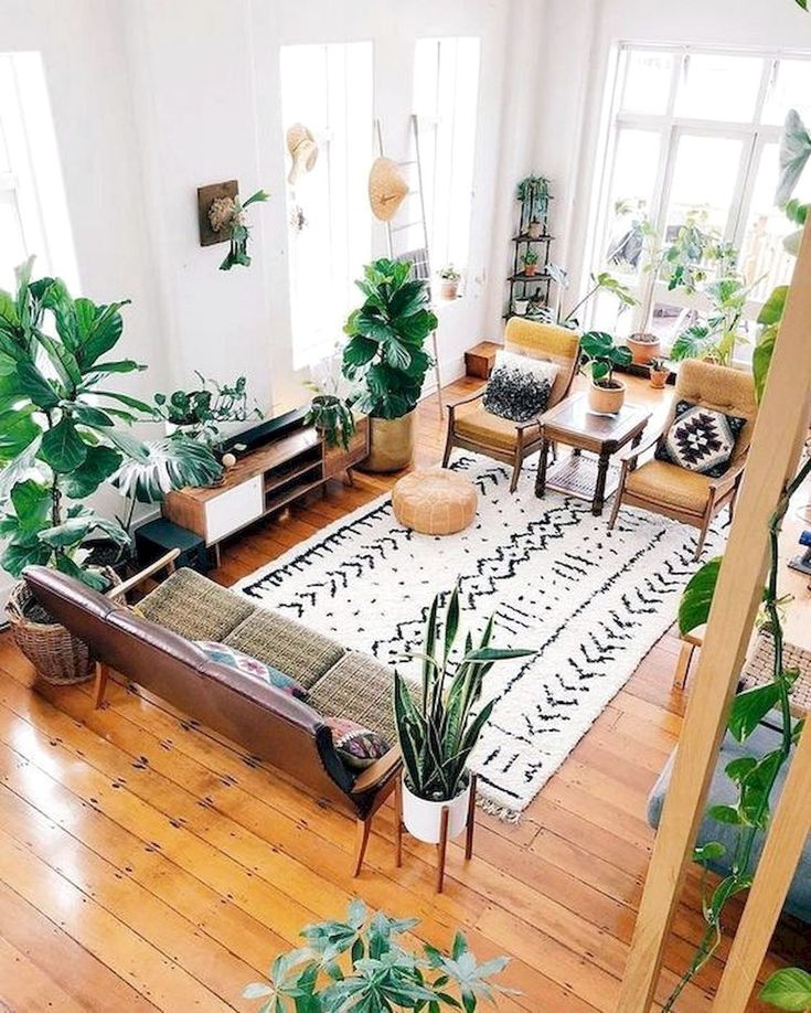 50 Bohemian Living Room Decoration Ideas