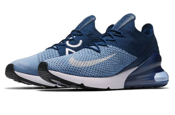d5be78555b33 Nike Air Max 270 Flyknit Work Blue Releasing Soon The Nike Air Max 270  Flyknit is