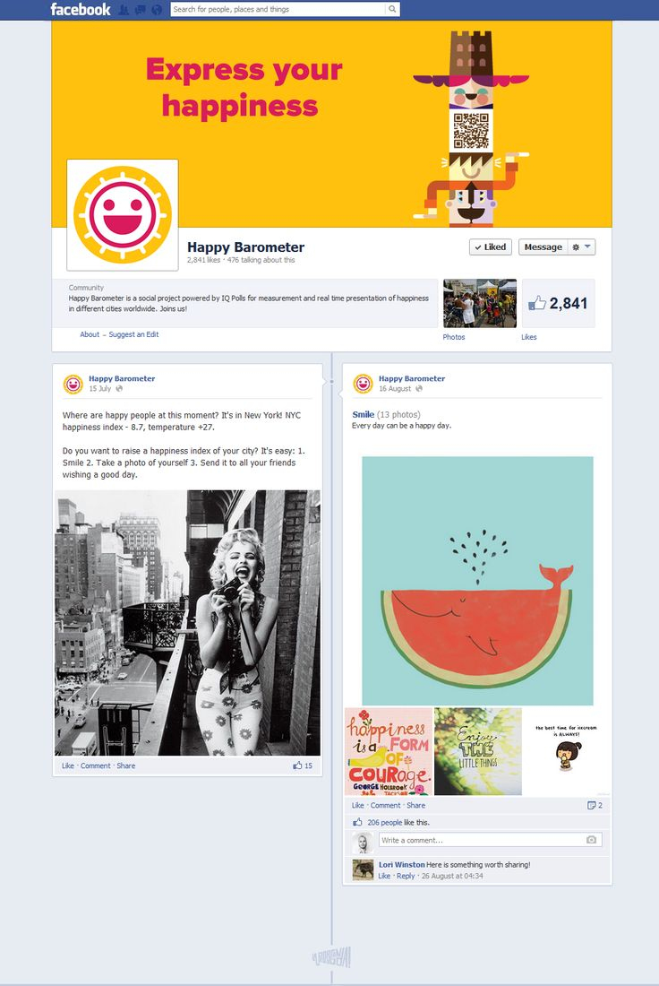 facebook.com/HappyBarometer #FacebookDesign