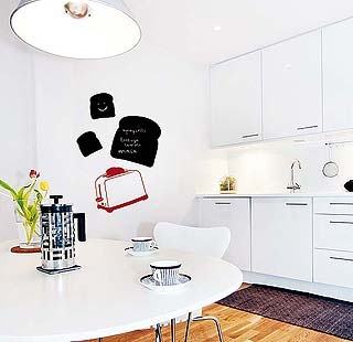 Las 25 mejores ideas sobre pizarra adhesiva en pinterest - Decorar las paredes de la cocina ...