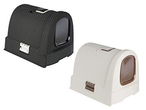 Curver 51x38,5x39inches Cat Toilet Cover Rattan Look Cat Litter V46