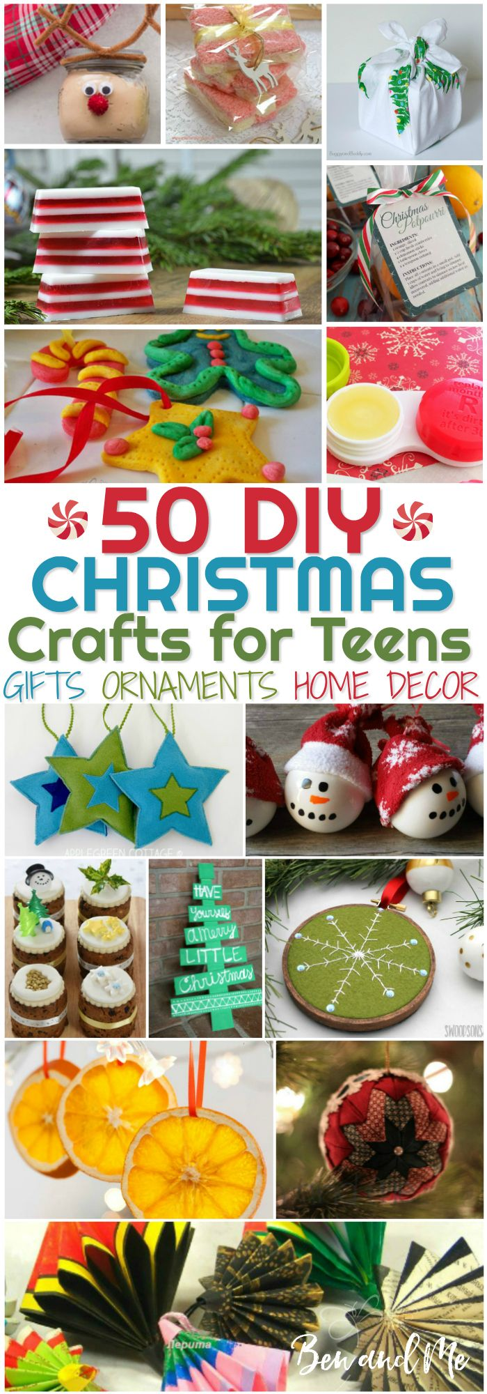 I especially enjoy making beautiful Christmas-themed crafts and DIY projects, and I think there are many teens who enjoy the same. It's not always easy coming up with ideas for DIY Christmas Crafts for Teens to keep their hands busy, so I spent some time gathering some ideas that I thought would set most on the right course.