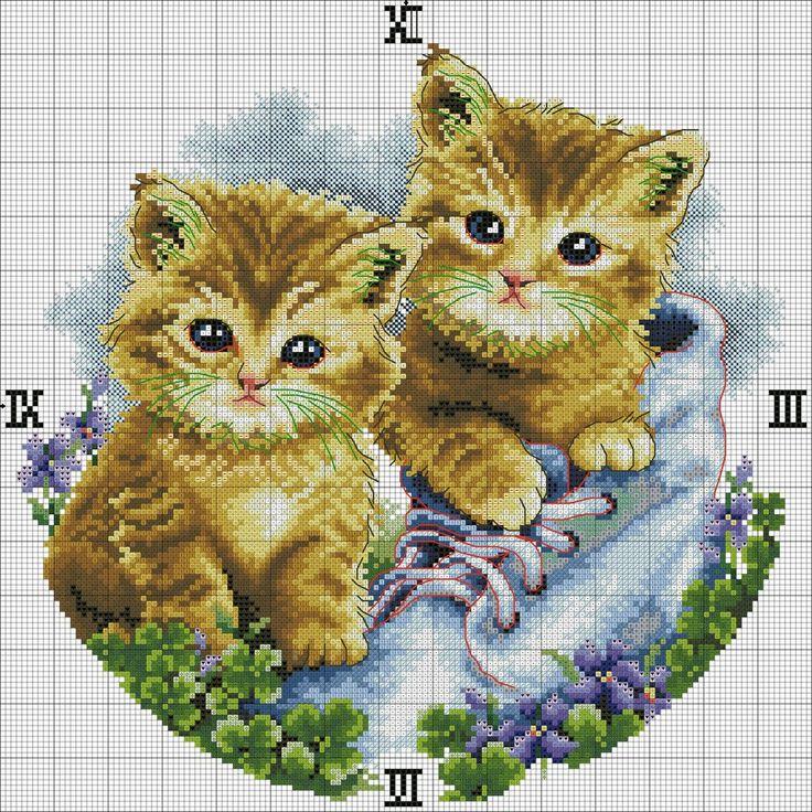 `punto de cruz relojes www.hilosrosace.net