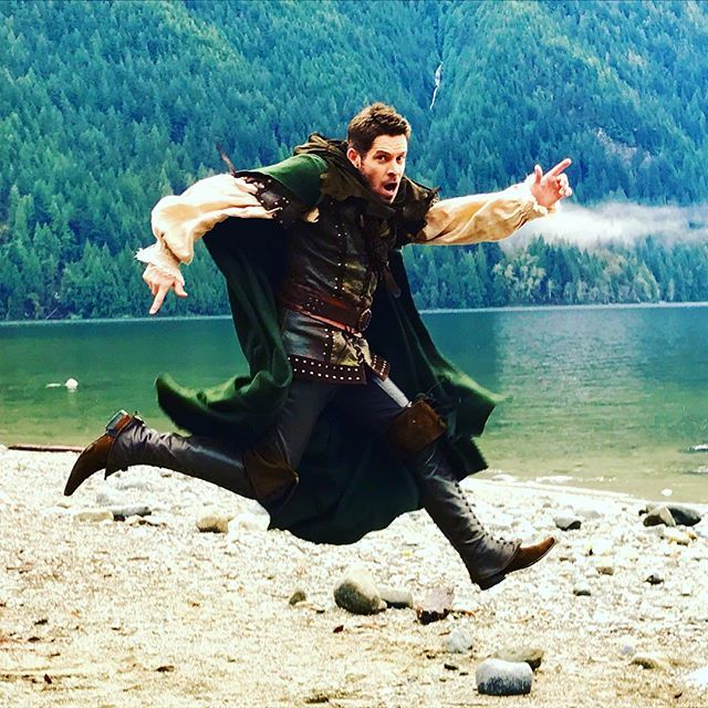 This Sunday a familiar outlaw may or not be bouncing back on to your screens.Photo by Billy Geirhart #onceuponatime #RobinHoodReturns
