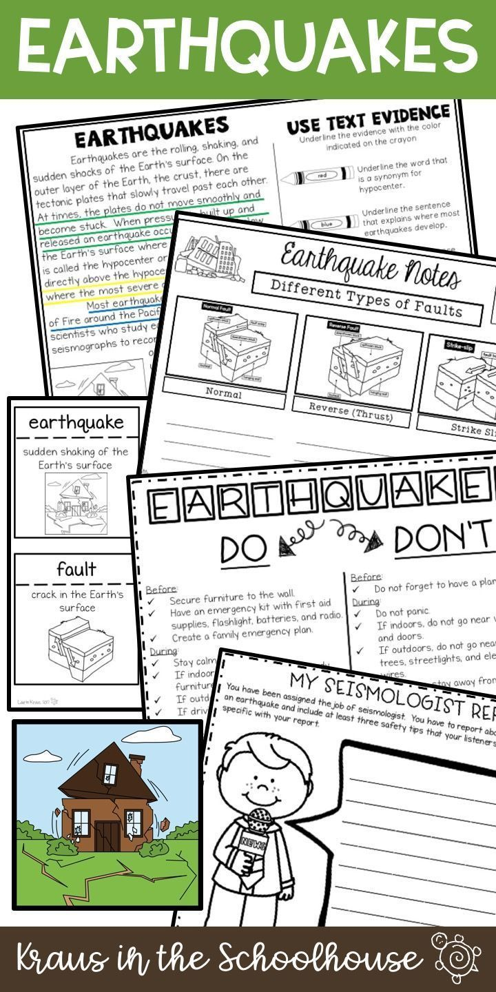 Earthquakes Unit Natural Disasters Tpt Digital Activity Distance Learning Earthquakes Activities Reading Graphic Organizers Earthquake [ 1440 x 720 Pixel ]