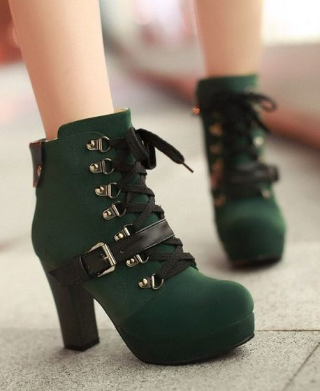 These green booties <3