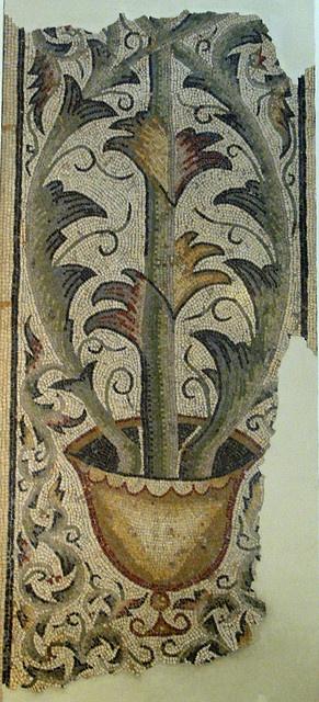 Roman Mosaic. Tree of Life. Tunis, Tunisia.