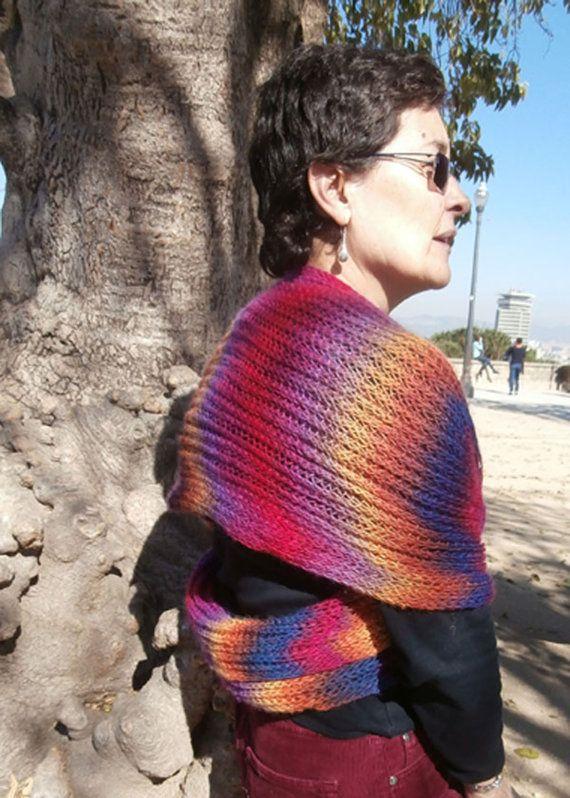 bufanda varillas lana punto ingles por entrelineas en Etsy, €25.00