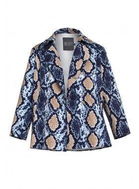 8 MN Snake Print Short Coat. Buy @ http://thehubmarketplace.com/Snake-Print-Short-Coat