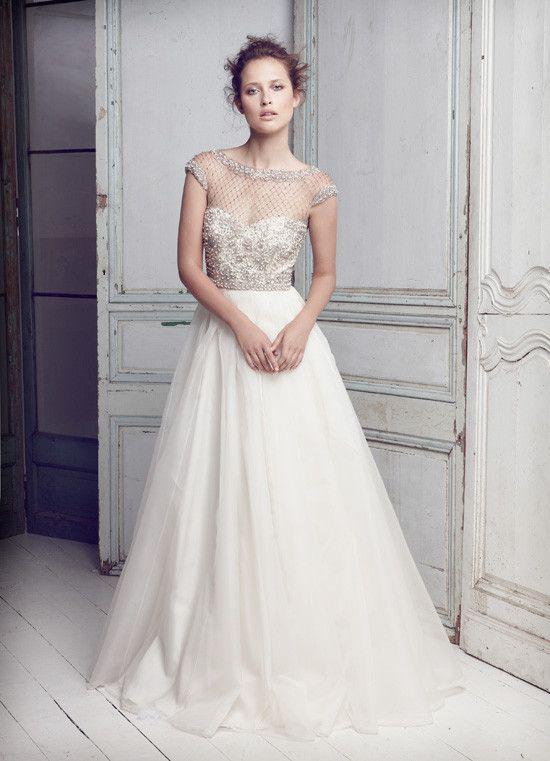 Collette Dinnigan Lattice Pearls Wedding Dress